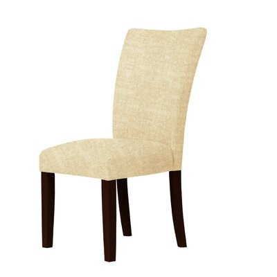 Wallington Solid Wood Legs Parsons Chair Upholstery: Light Cream