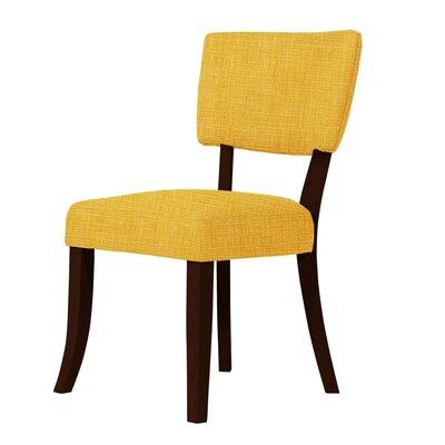 Larochelle Curvilinear Radius Side Chair Upholstery: Yellow