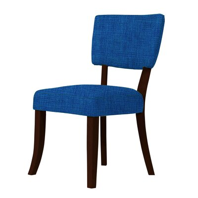 Larochelle Curvilinear Radius Side Chair Upholstery: Blue
