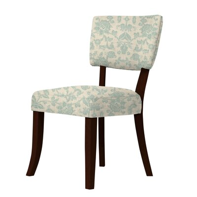 Petra Side Chair Upholstery: Green