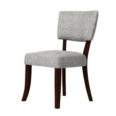Larochelle Curved Legs Side Chair Upholstery: Light Gray