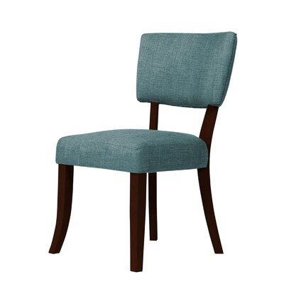 Trottier Side Chair Upholstery: Green