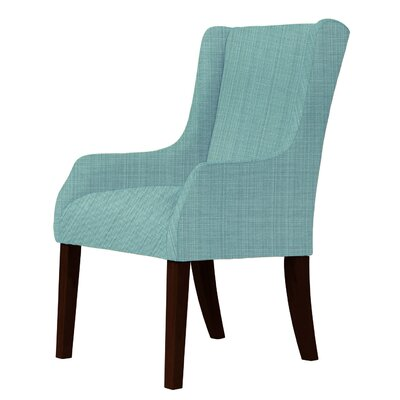 Larrabee Upholstery Wingback Chair Upholstery: Green