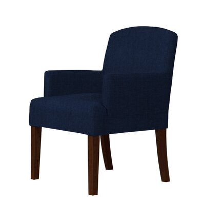 Larose Dark Blue/Brown Arm Chair