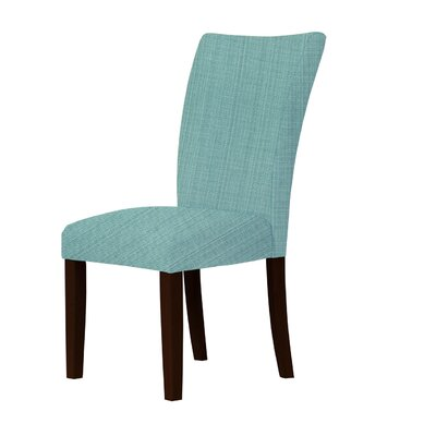 Wallington Solid Upholstered Parsons Chair Upholstery: Green