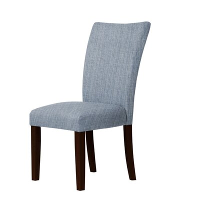 Wallington Solid Upholstered Parsons Chair Upholstery: Blue