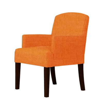 Larose Luxury Hardwood Arm Chair Upholstery: Orange