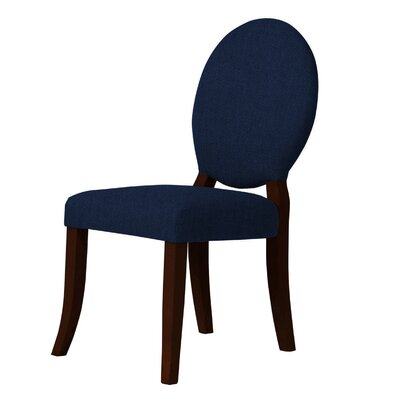 Lashley Dark Blue Upholstered Side Chair