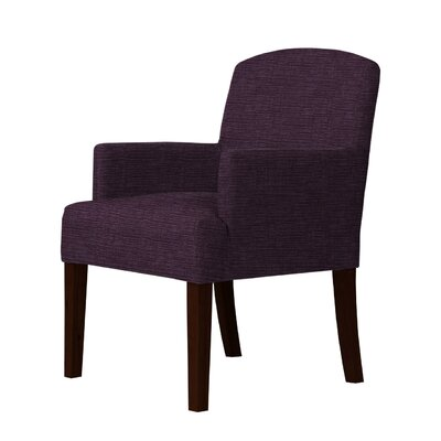 Macon Wood Frame Armchair Upholstery: Purple