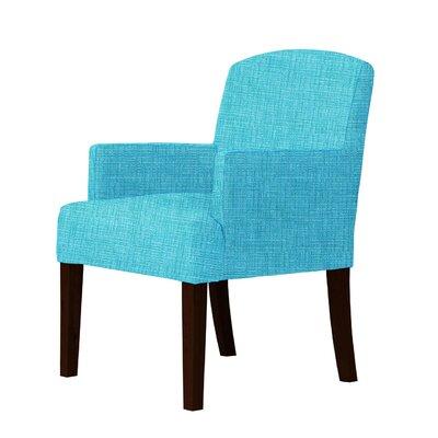 Larose Luxury Hardwood Arm Chair Upholstery: Sky Blue
