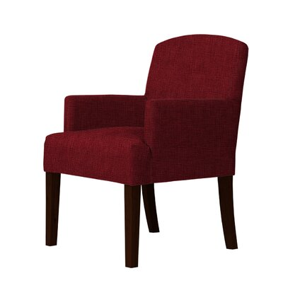 Macon Wood Frame Armchair Upholstery: Dark Red