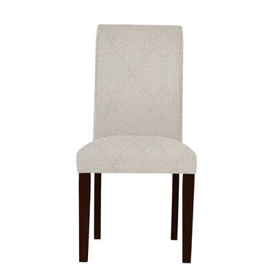 Beachwood White/Brown Parsons Chair