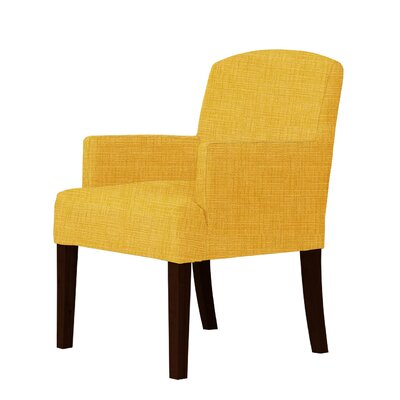 Macon Wood Frame Armchair Upholstery: Yellow