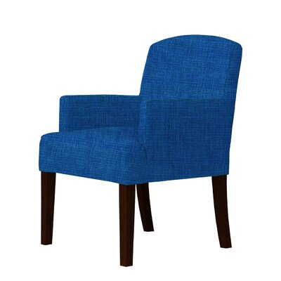 Macon Wood Frame Armchair Upholstery: Blue