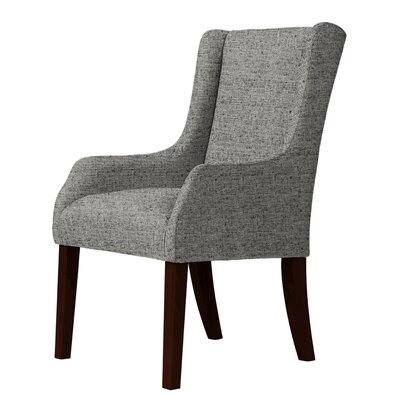 Larrabee Fabric Olefin Wingback Chair Upholstery: Dark Gray