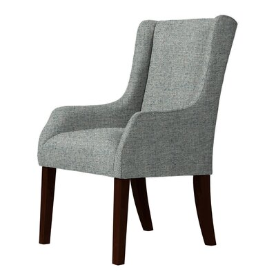 Larrabee Wingback Chair Upholstery: Green/Gray