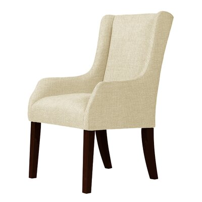 Larrabee Frame Hardwood Wingback Chair Upholstery: Cream