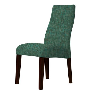 Haddonfield Green Fabric Parsons Chair