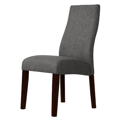 Haddonfield Wooden Frame Parsons Chair Upholstery: Gray