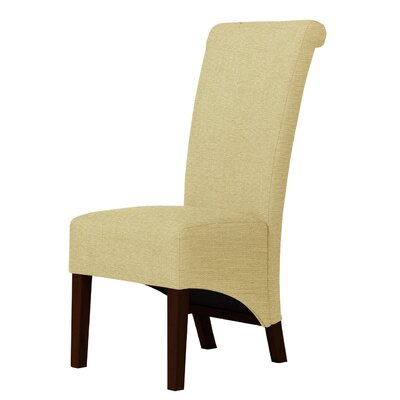 Keyesport Cotton Fabric Parsons Chair Upholstery: Light Cream