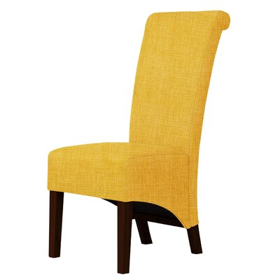 Keyesport Upholstered Parsons Chair Upholstery: Yellow