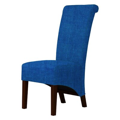 Keyesport Upholstered Parsons Chair Upholstery: Blue