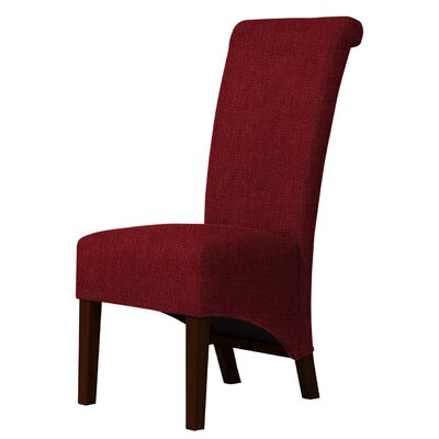 Keyesport Upholstered Parsons Chair Upholstery: Dark Red