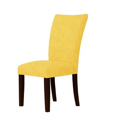 Wallington Contemporary Fabric Parsons Chair Upholstery: Yellow