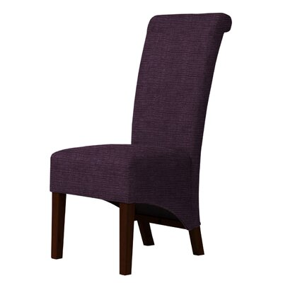 Keyesport Upholstered Parsons Chair Upholstery: Dark Purple
