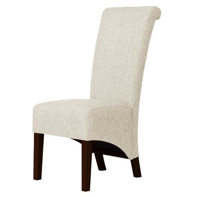 Keyesport Wood Legs Parsons Chair Upholstery: Ivory
