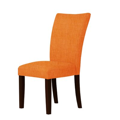 Wallington Fabric Parsons Chair Upholstery: Orange