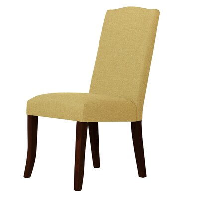 Lasseter Cotton Parsons Chair Upholstery: Cream