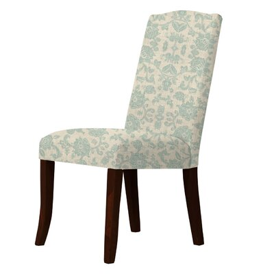 Lasseter Floral Parsons Chair Upholstery: Green