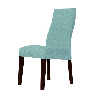 Haddonfield Shaped Back Parsons Chair Upholstery: Green