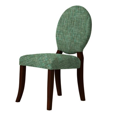 Lashley Wood Legs Upholstered Side Chair Upholstery: Green