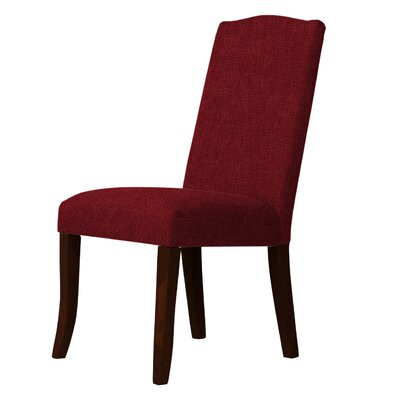 Lasseter Upholstered Dining Chair Upholstery: Dark Red