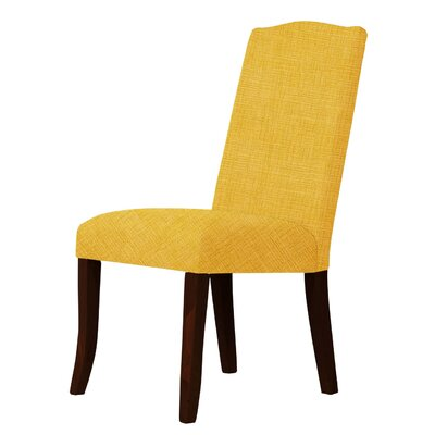 Lasseter Solid Wood Legs Parsons Chair Upholstery: Yellow