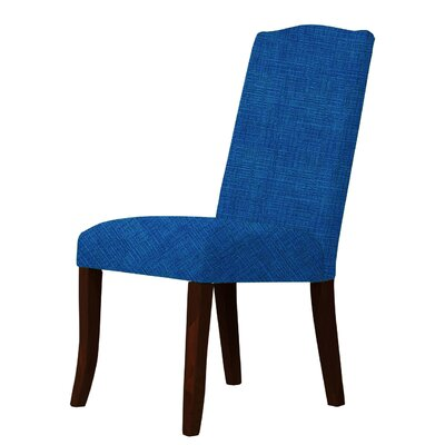 Lasseter Solid Wood Legs Parsons Chair Upholstery: Blue
