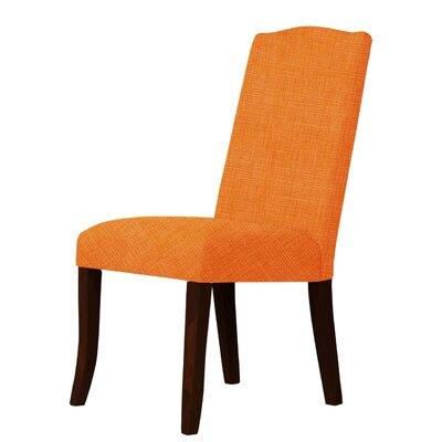 Lasseter Upholstered Dining Chair Upholstery: Orange