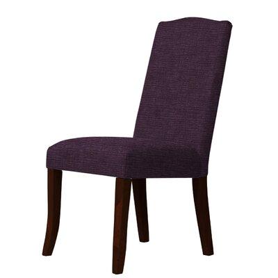 Lasseter Upholstered Dining Chair Upholstery: Dark Purple