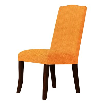 Lasseter Upholstered Dining Chair Upholstery: Orange