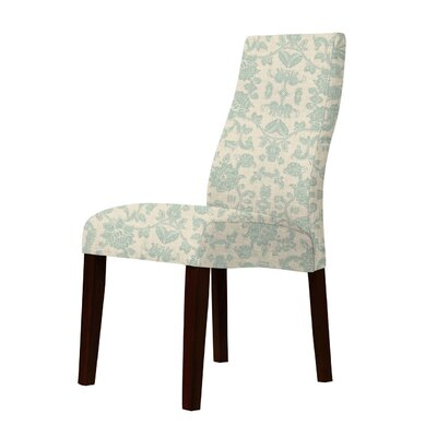 Haddonfield Floral Parsons Chair Upholstery: Green
