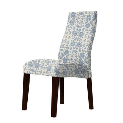 Haddonfield Parsons Chair Upholstery: Blue