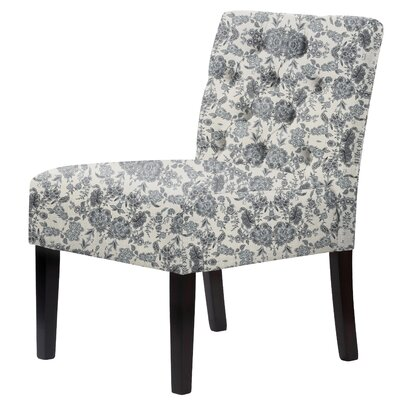 Lashbrook Floral Tufted Slipper Chair