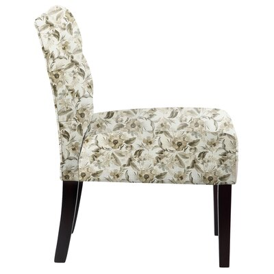 Lashbrook Floral Tufted Cotton Slipper Chair