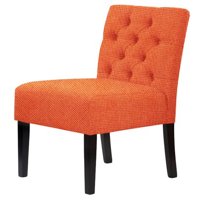 Lashbrook Slipper Chair Upholstery: Orange Red