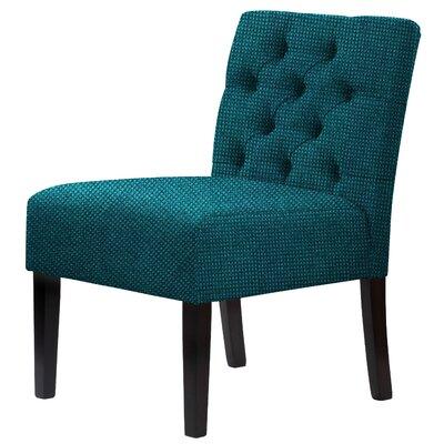 Lashbrook Hardwood Framed Tufted Slipper Chair Upholstery: Pine Green