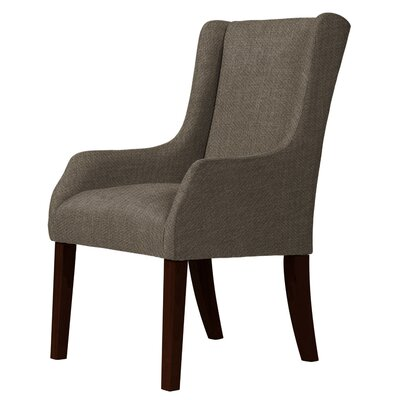 Larrabee Wood Legs Wingback Chair Upholstery: Brown