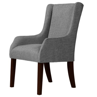 Larrabee Wood Legs Wingback Chair Upholstery: Gray