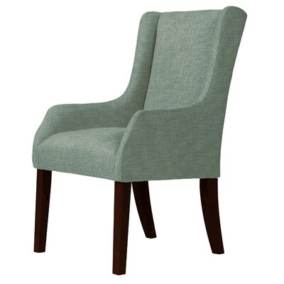 Larrabee Cotton Wingback Chair Upholstery: Green